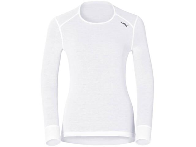 Odlo Active Originals Warm Camiseta interior manga larga cuello redondo Mujer, white